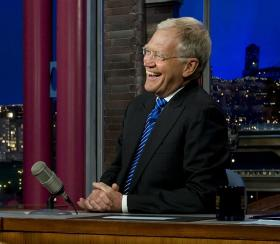 David Letterman during an interview on the Late Show in New York City.