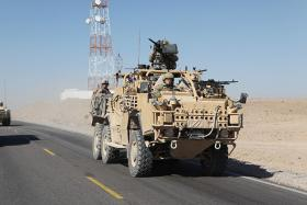 US military truck in Afghanistan 2011