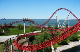 The Maverick roller coaster at Cedar Point