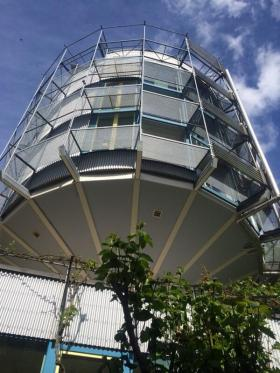 "A photo of the the Heliotrope in Freiburg, Germany taken by Mayor Bill Peduto during his recent trip. Built in 1994, it was the world's first ""net plus"" building, it produces 3-4 times the amount of energy it uses."