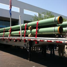 An example of American-made steel pipes to be used in the natural gas and oil extraction process.