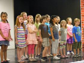 Children at the CLO Academy of Musical Theater rehearsed for their production of Cinderella Wednesday.