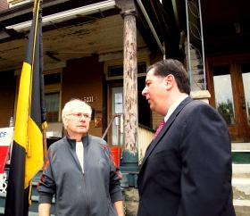 Air Force Veteran John Malloy's home is getting needed repairs thanks to funding from the Home Depot Foundation, Pittsburgh Mayor Bill Peduto said meeting the needs of veterans is critical, and home repairs helps then stay in their homes.