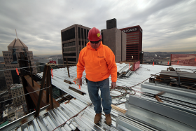 Third-generation ironworker Al Williams has been spent more than 30 years on construction sites in the Pittsburgh region. Currently he's working on the latest addition to the city's skyline, the Tower at PNC Plaza.