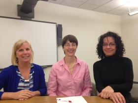 Eileen Sharbaugh, Dr. Lynne Williams, Dr. Tammy Murdock (left to right) of Jeremiah's Place.