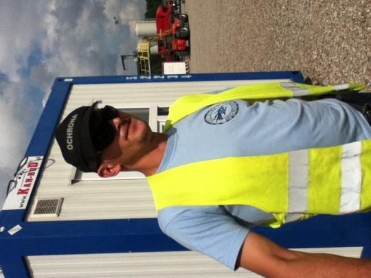 Security Guard at Test Drilling Site in the North.