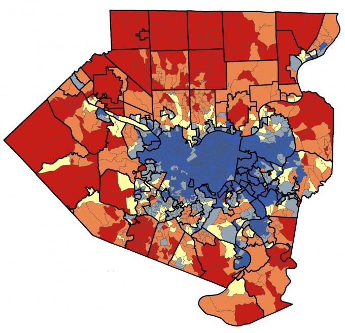 Local Group Maps Election Results In Allegheny County WESA - Us map of voting results by county