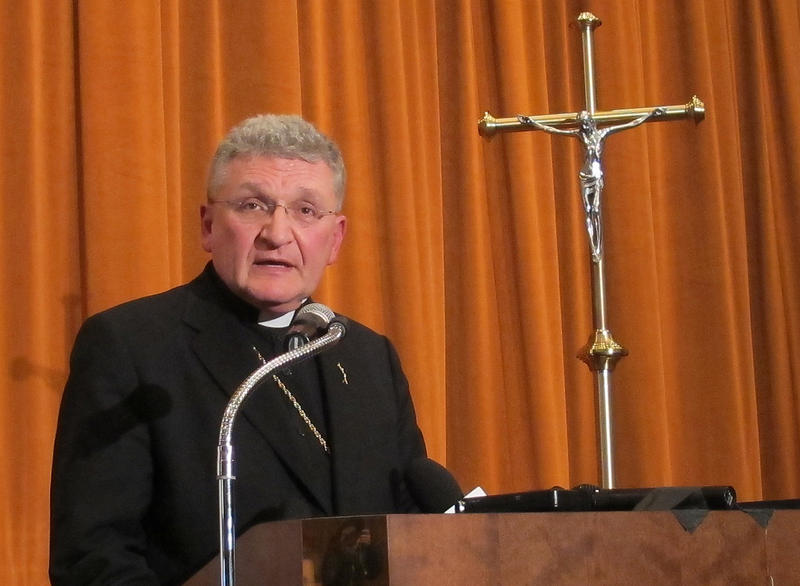 Bishop David Zubik said Saturday that the Roman Catholic Diocese of Pittsburgh will reduce its current 188 parishes to 57 over the next few years.