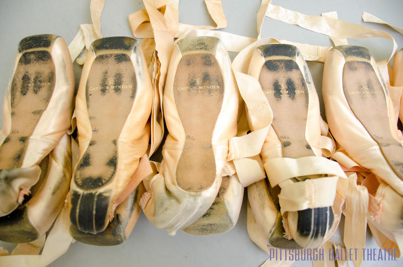 Keeping a constant rotation of pointe shoes for various uses