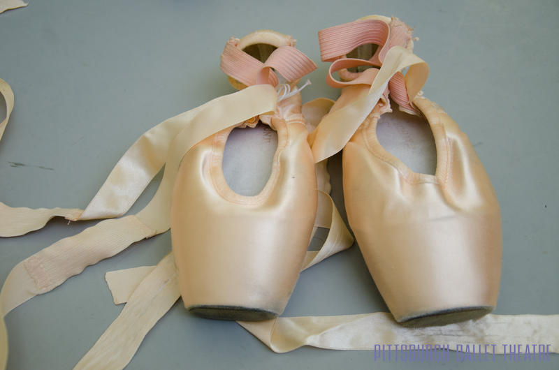 Julia uses pointe shoes made from a different material than most