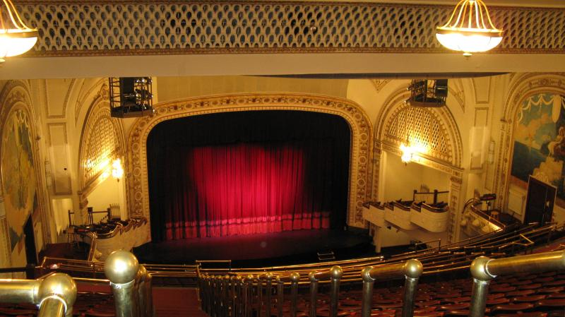 A view of the Palace Theatre from the seats