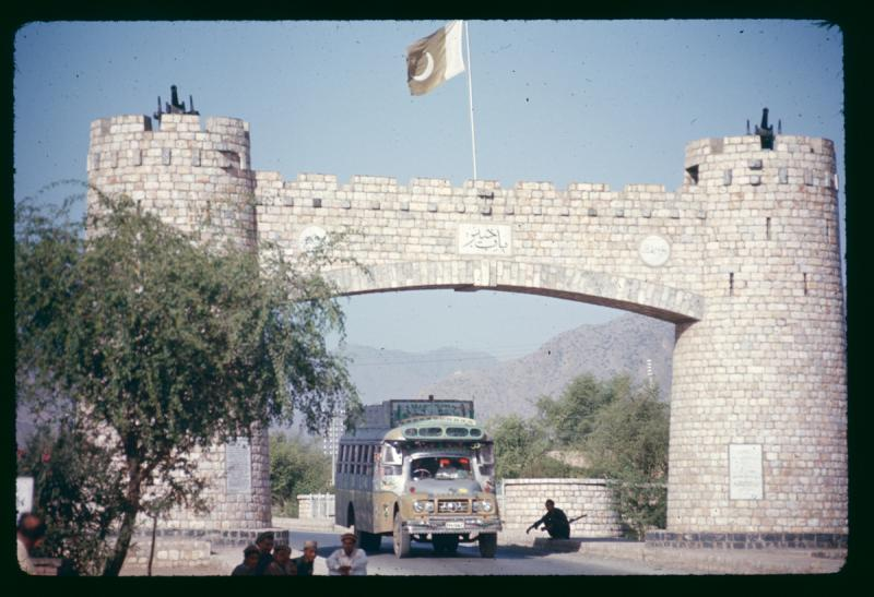 Khyber pass gateway in 1972