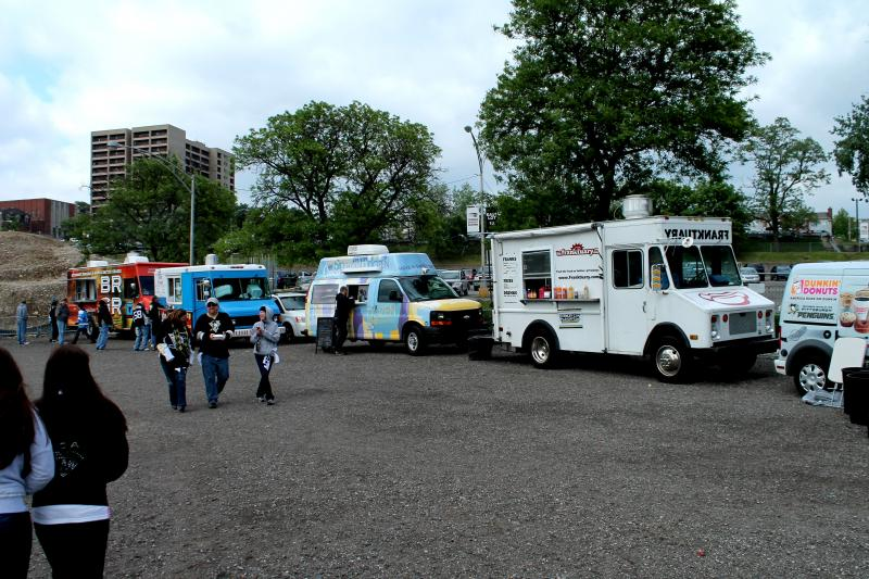 Franktuary, Zum Zum, BRGR and Dozen Bake Shop are just some of the food trucks that sell food around the city.