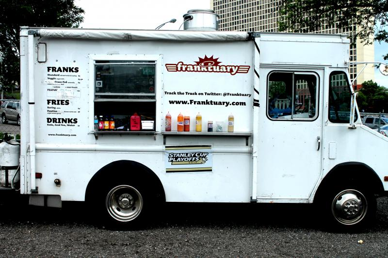 Franktuary serves up gourmet hot dogs from their food truck and their two locations in Dowtown and Lawrenceville.
