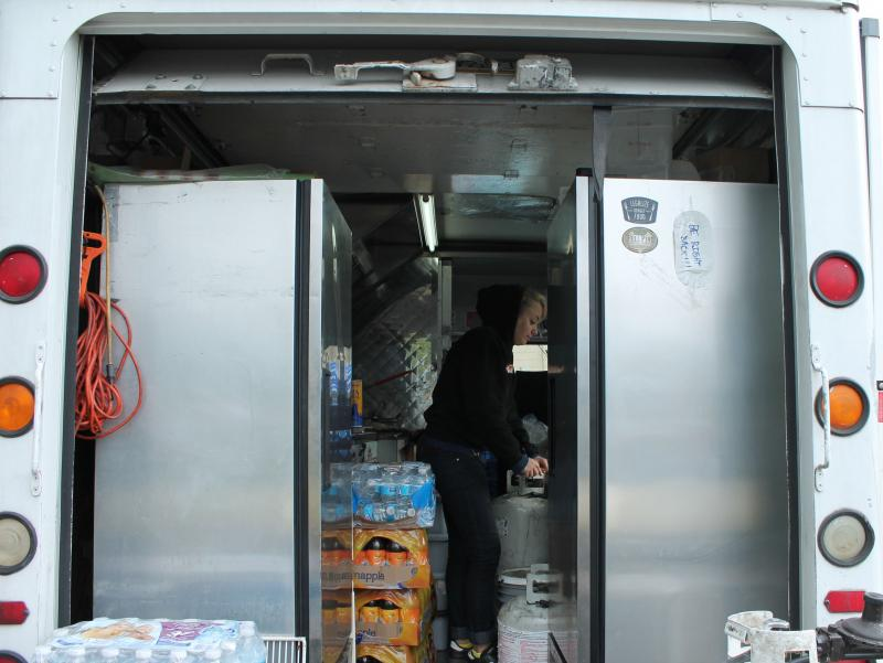 Cooking in the trucks is not a job for the claustrophobic.