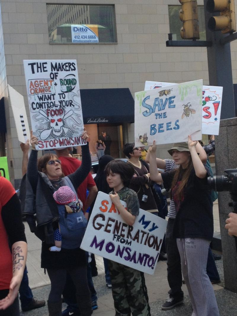The Occupy Monsanto protest was a family affair in many places.