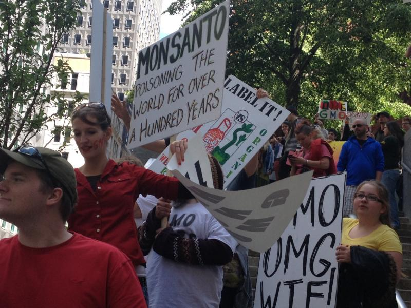 Occupy Monsanto protesters at Saturday's march.