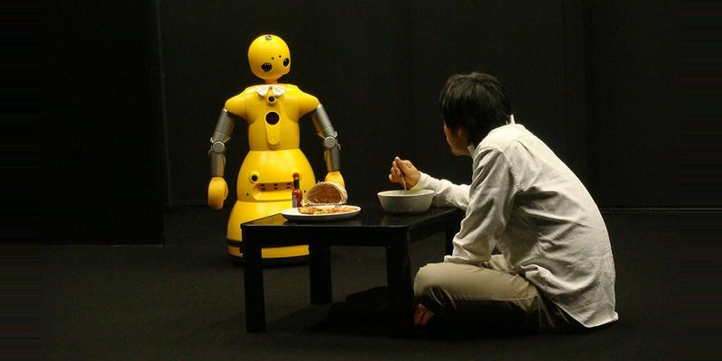 A service robot from the play I, Worker