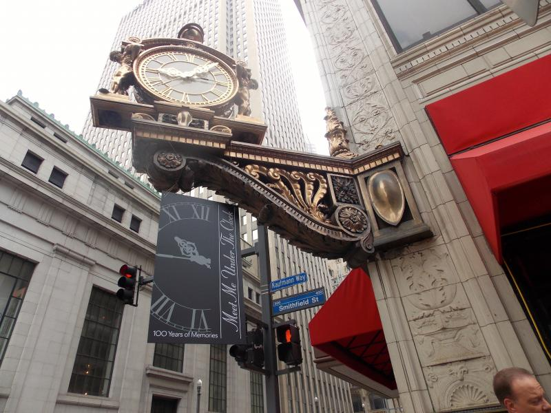 The Kaufmann's Clock has served as a meeting place for Pittsburghers for a century