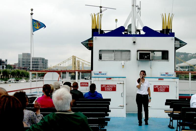 Daily sightseeing tours take visitors along all three of Pittsburgh's rivers while providing insight and history about the city.