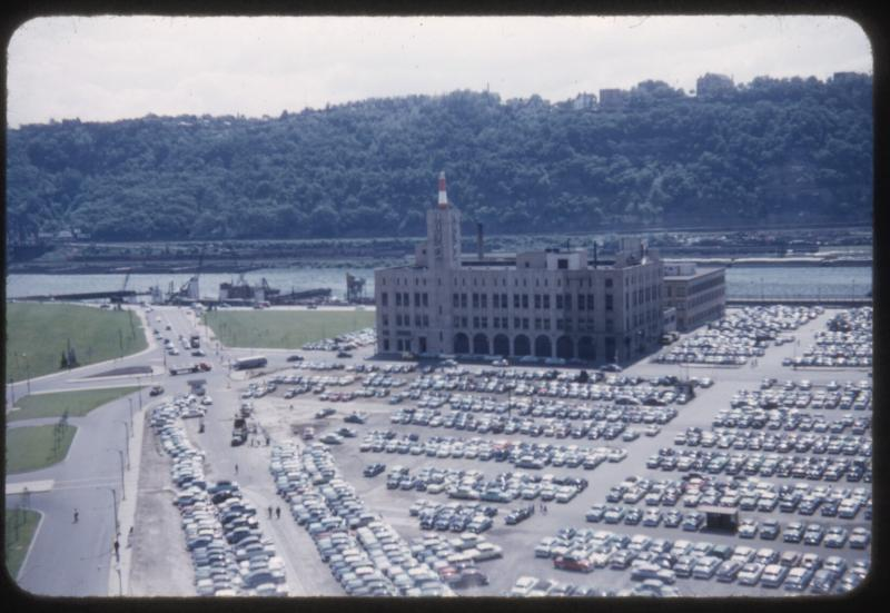 Before the Point was a state park, the space was used for warehouse and parking space, as shown in this photo from the 1950s.