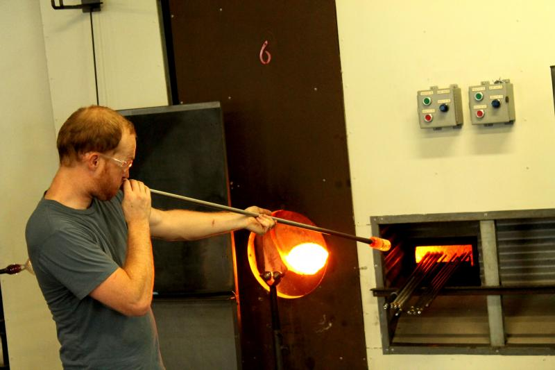 Blowing glass was once the only technique used to make glass products. Even flat products like window panes had to be first blown into a cylinder before they could be shaped.