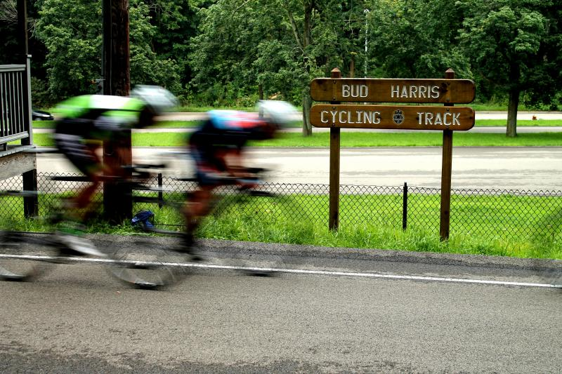 The Allegheny Cycling Association hosts a summer race series for riders of different skill levels at the Bud Harris Cycling Track in Highland Park.