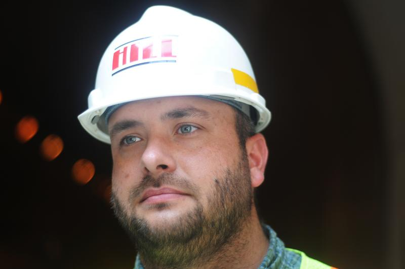 Danny Rosensteel is the tunnel contruction project manager.