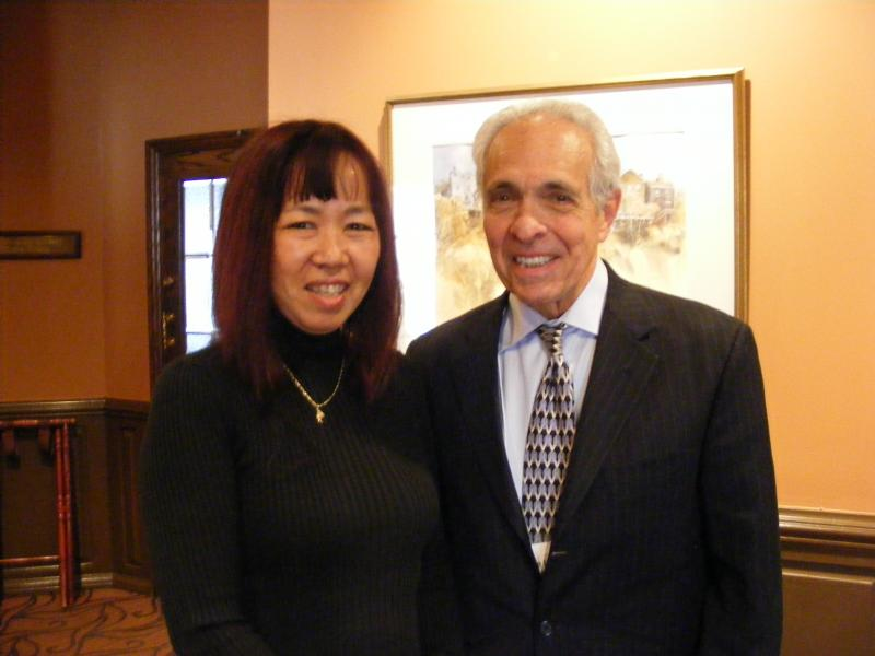 Kyoko Henson, a home and school visitor for the Penn Hills School District (or a liaison between the Penn Hills School District and homeless students) and Joe Lagana, founder and CEO of the Homeless Children's Education Fund