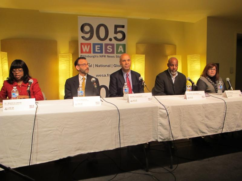 Forum panelists (L-R) Monica Lamar, Jeremy Resnick, Stan Thompson, John Welch and Renel Williams