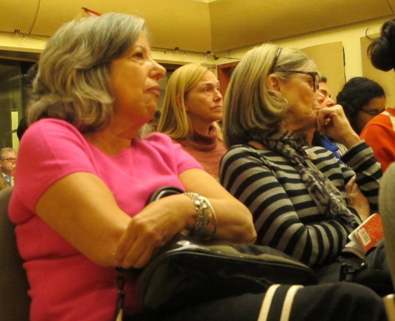 Forum audience members listen closely to the discussion about shrinking the achievement gap