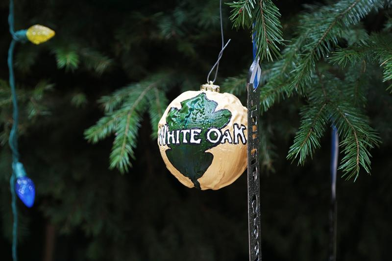 Every school district in Allegheny County was invited to use recycled scrap material to create an ornament representing the district itself and one for each of the communities within its borders.