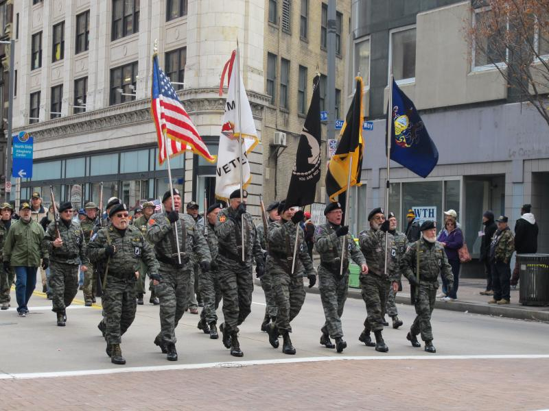 Vietnam veterans march in Monday's parade