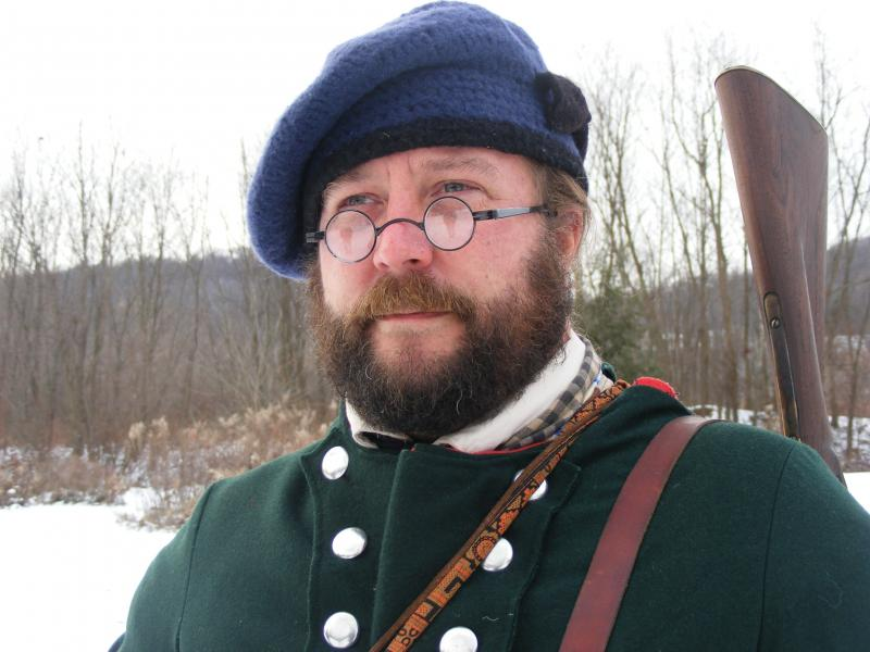 Daniel Nehrer is a historic reenactor with the 42nd regiment of foot known as the Black Watch