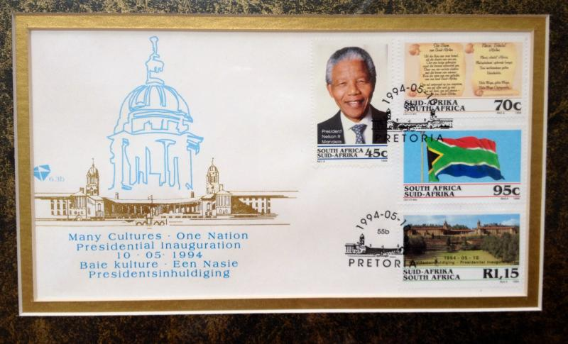 Memorabilia from the inauguration of Nelson Mandela in 1994