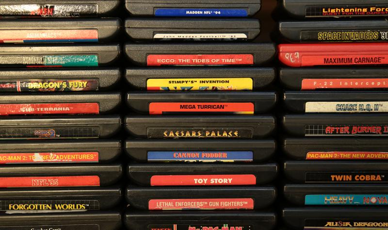 Bussler's collection of video games reaches into the thousands.