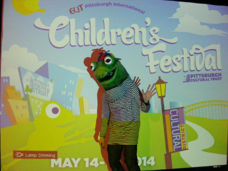 Frogs are a theme of the International Children's Festival.