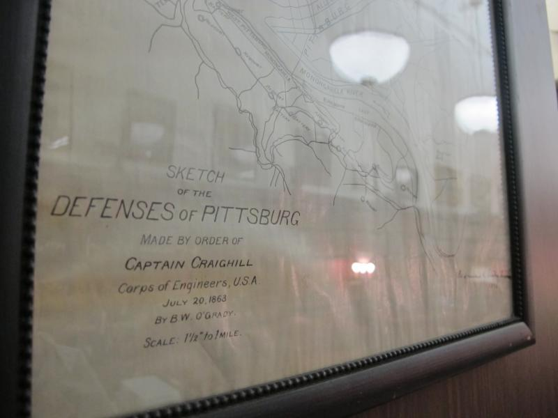 A map of all the redoubts constructed in Pittsburgh in 1863 is housed at the Carnegie Library of Pittsburgh in Oakland.
