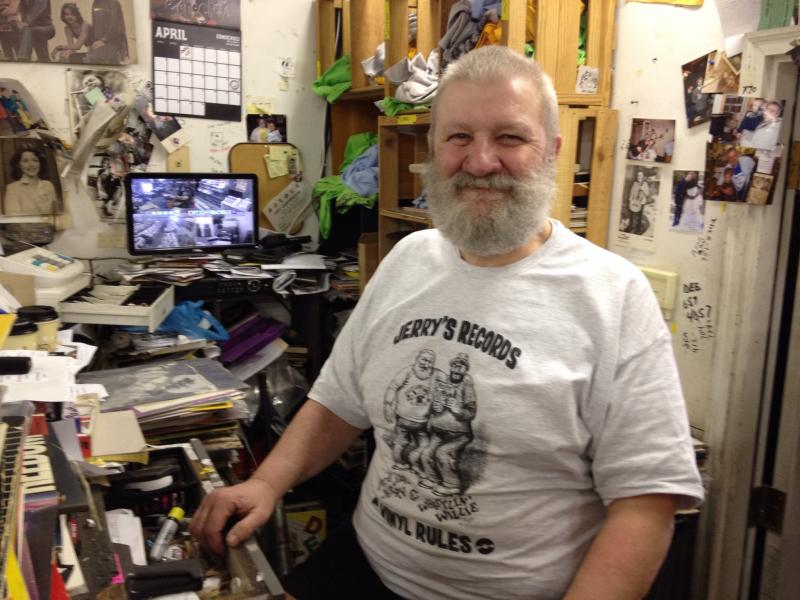 Jerry Weber of Jerry's Records in Squirrel Hill.