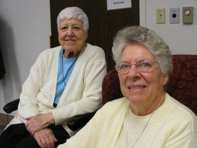 "Sister Nancy Langhart and Sister Margaret ""Peg"" Markey"