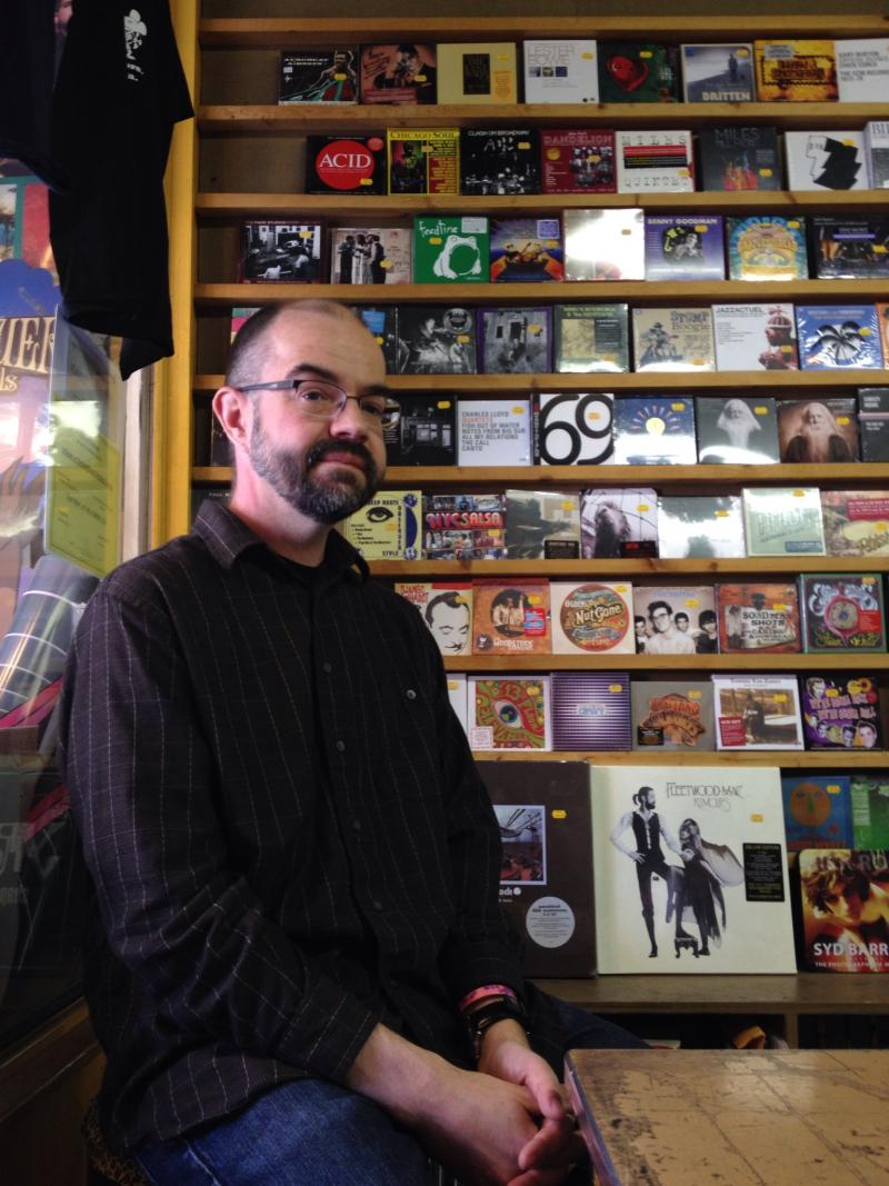Karl Hendricks, owner of Sound Cat Records in Bloomfield.