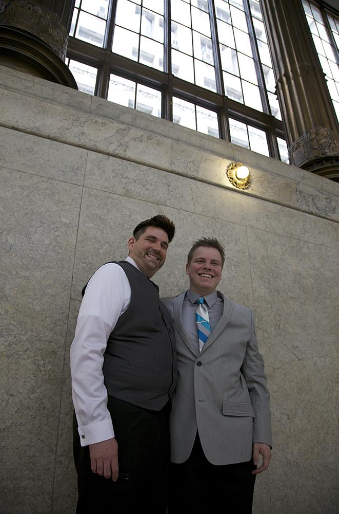 J.R. Shaw and Dek Ingraham have been together for 10 years and wanted to get married before any appeal could be filed to the decision declaring Pennsylvania's Defense of Marriage Act unconstitutional.