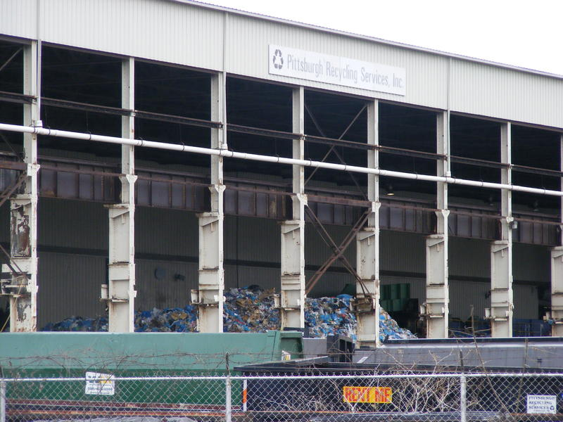 The Pittsburgh Recycling Plant went bankrupt in January, leaving behind mounds of abandoned trash.