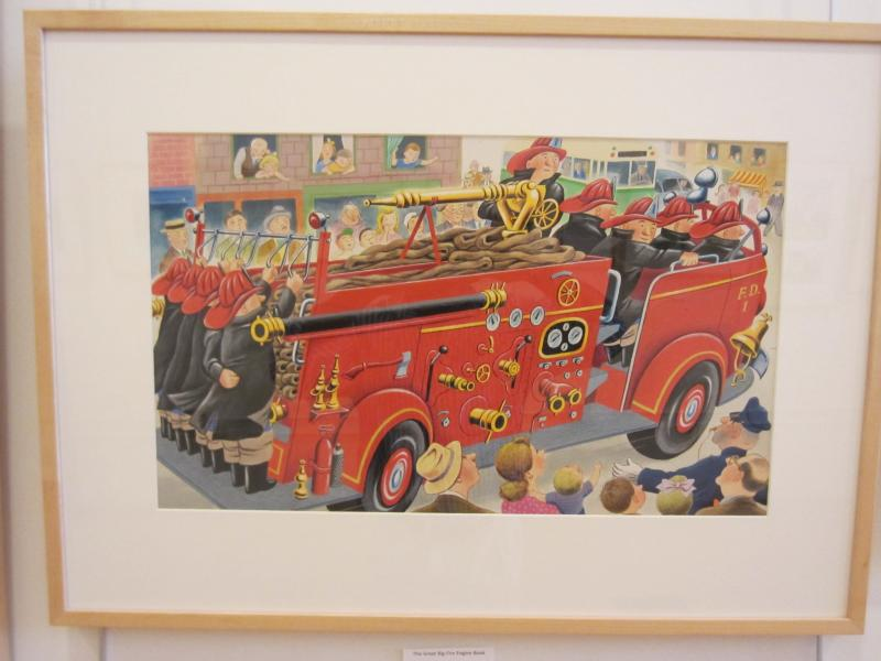 Artwork from The Great Big Fire Engine, published 1950