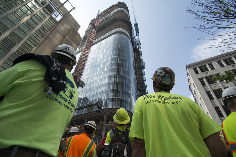 "Construction on the building is expected to be completed by mid-2015. Billed as ""the world's greenest office tower,"" the 33-story building will serve as PNC's new headquarters."