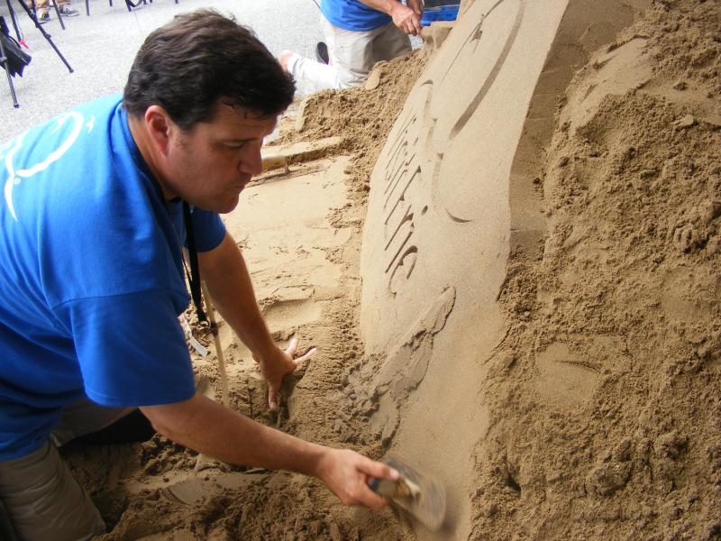 Rusty Croft said he has been professionally sand sculpting for 17 years.