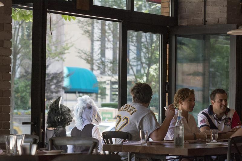 ​​​​Furries turn heads Friday at the local restaurants outside of the David L. Lawrence Convention Center.