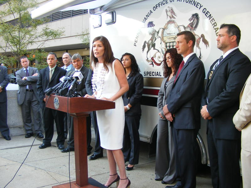 Attorney General Kathleen Kane introduced the new truck that aims to arrest child predators faster.