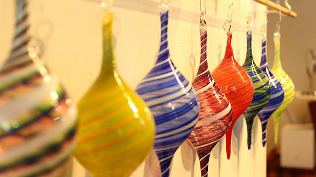 A glass ornament vendor at the I Made It! Market in 2012.