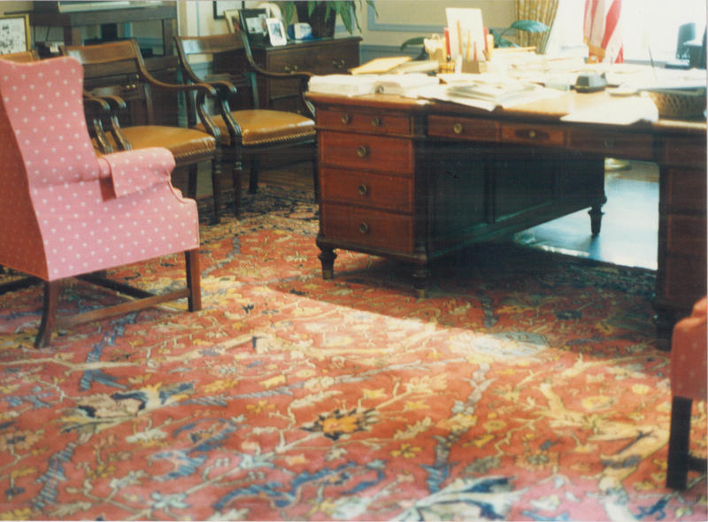The rug in Mayor Sophie Masloff's office shortly before it was donated.